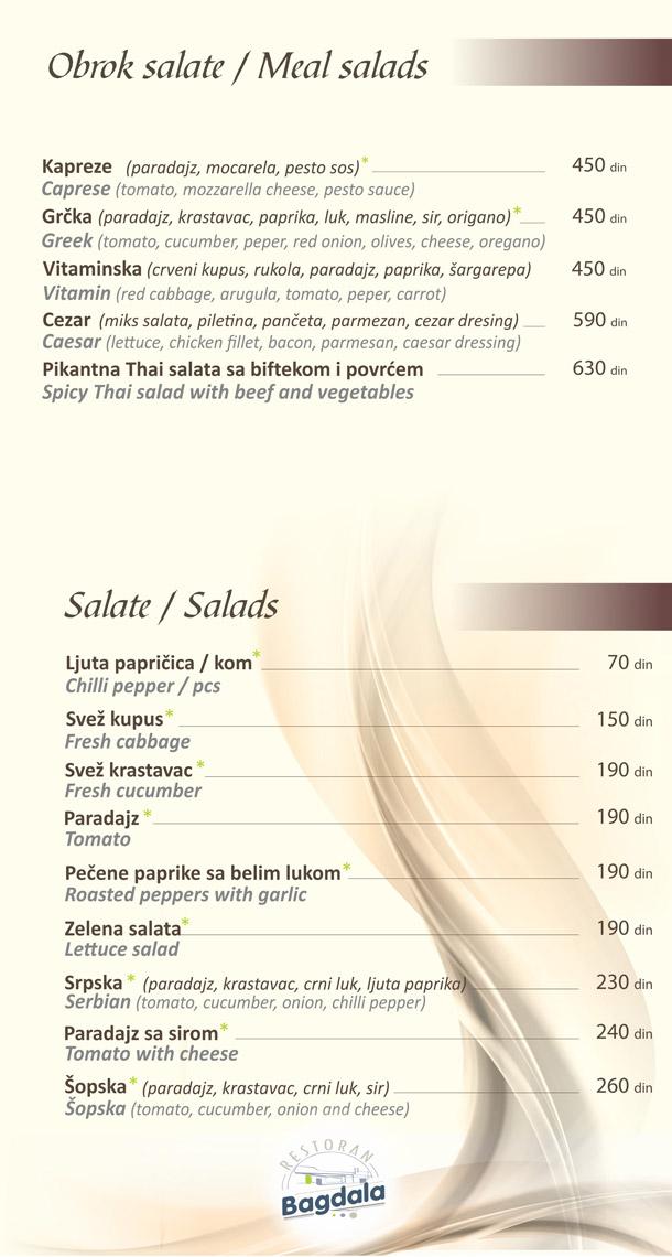 Obrok salate / Salate