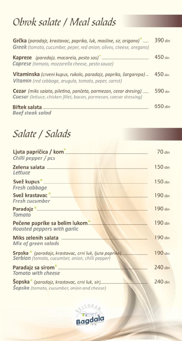 Obrok salate, salate / Meal Salads, Salads