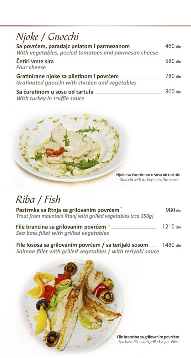 Njoke, riba / Gnocchi, Fish